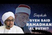 Biografi DR. Sa'id Ramadhan Al-Buthi